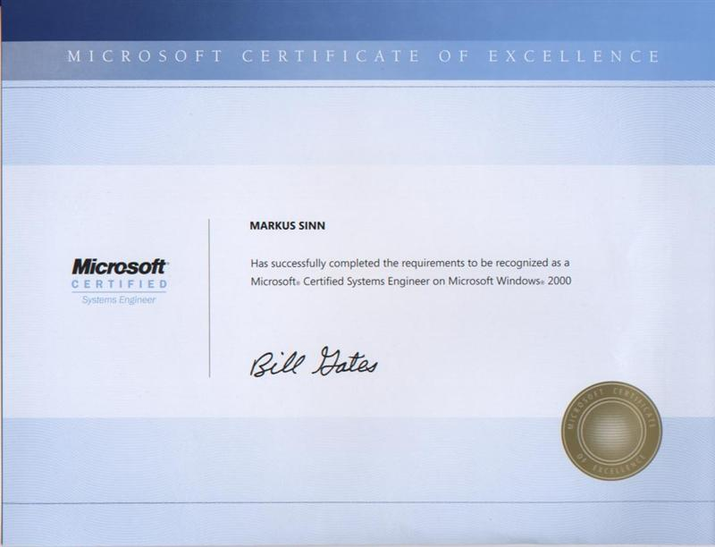 mcse windows 2000 certificate query certforums